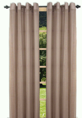 Bal Harbour Semi-Sheer Grommet Top Curtain Panel - Taupe from Ricardo