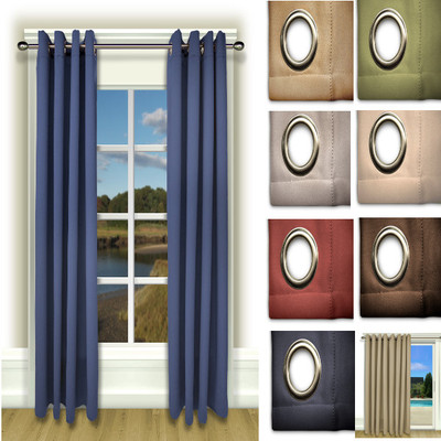 """Ultimate Blackout Grommet Top Curtains - 96"""" long from Ricardo"""