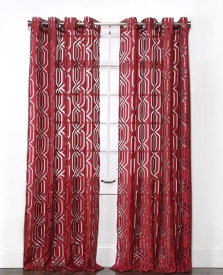 Argos Grommet Top Curtain Panel - Crimson