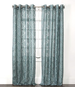 Argos Grommet Top Curtain Panel - Sky