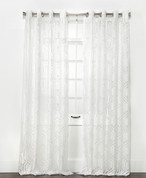 Argos Grommet Top Curtain Panel - White from Belle Maison