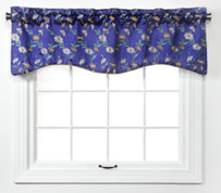 Wisteria Scalloped Valance - Cobalt from Belle Maison