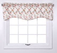 Wisteria Scalloped Valance - Ivory from Belle Maison