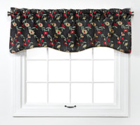Wisteria Scalloped Valance - Onyx Black from Belle Maison