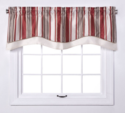 Maxton Layered Lined Valance - Crimson from Belle Maison