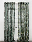 Tango Sheer Grommet Top Curtain Panel - Slate from Belle Maison