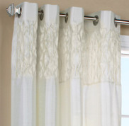 Emmanuel Grommet Top Curtain Panel - Cream from Commonwealth