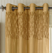 Emmanuel Grommet Top Curtain Panel - Gold from Commonwealth