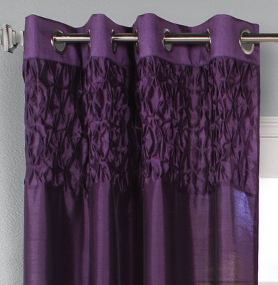 Emmanuel Grommet Top Curtain Panel - Purple from Commonwealth