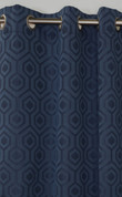 Highgate Grommet Top Curtain Panel - Navy