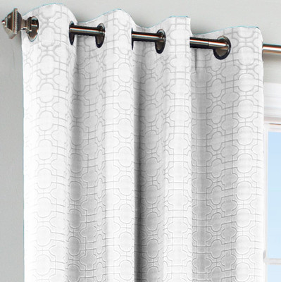 Irongate Grommet Top Curtain Panel - White