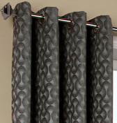 Rope Chenille Grommet Top Curtain Panel - Titanium from Commonwealth