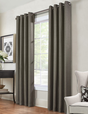 Henderson Grommet Top Curtain Panel - Charcoal