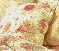 Antique Rose square throw pillow from Greenland