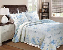 Coral Blue Quilt SET from Greenland