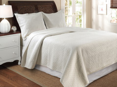 Vashon Quilt SET - Ivory from Greenland