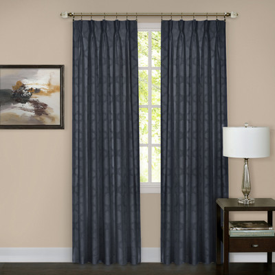 Windsor Pinch Pleated Drape PAIR - Navy