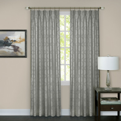 Windsor Pinch Pleated Drape PAIR - Silver
