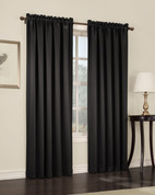 Althea Blackout Rod Pocket Curtains - black from Lichtenberg Sun Zero
