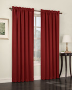 Althea Blackout Rod Pocket Curtains - brick from Lichtenberg Sun Zero