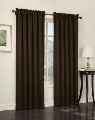 Althea Blackout Rod Pocket Curtains - chocolate brown from Lichtenberg Sun Zero