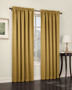 Althea Blackout Rod Pocket Curtains - Gold from Lichtenberg Sun Zero