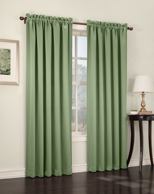 Althea Blackout Rod Pocket Curtains - Sage Green from Lichtenberg Sun Zero