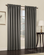 Althea Blackout Rod Pocket Curtains - Steel Grey from Lichtenberg Sun Zero