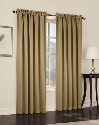 Althea Blackout Rod Pocket Curtains - Taupe from Lichtenberg Sun Zero