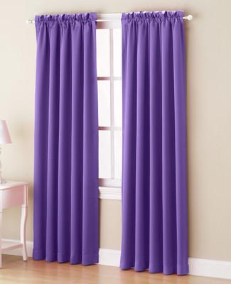 Althea Blackout Rod Pocket Curtains - Purple from Lichtenberg Sun Zero