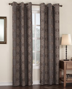Carrigan Lined Thermal Grommet Top Curtain - Chocolate from Lichtenberg Sun Zero