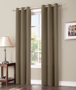 Gareth Blackout Grommet Top Curtain Panel - Barley from Lichtenberg Sun Zero