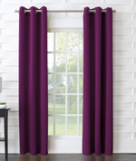 Kingsley Sun Zero Room Darkening Grommet Top Curtain - Magenta