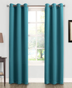 Kingsley Sun Zero Room Darkening Grommet Top Curtain - Marine