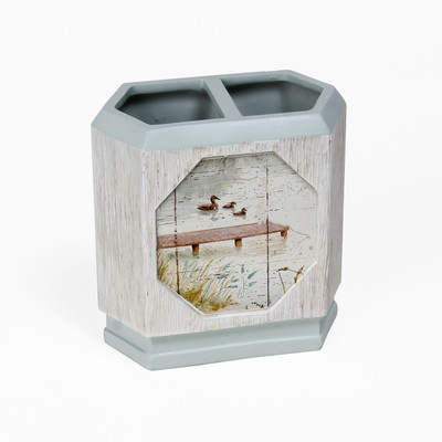 Lake Cabin Retreat Toothbrush Holder from Saturday Knight