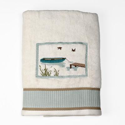 Lake Cabin Retreat Bath Towel from Saturday Knight