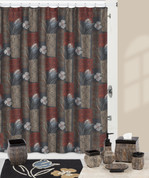Borneo Shower Curtain and Bath Accessories Collection from Creative Bath