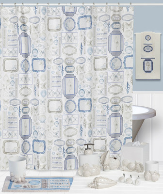 Seaside Seashells Shower Curtain and Bathroom Accessories from Creative Bath