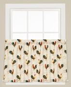 "Tuscan Morning Roosters 24"" kitchen curtain tier from Saturday Knight"