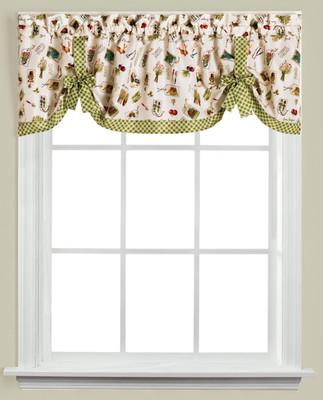 Homegrown Garden kitchen curtain valance from Saturday Knight