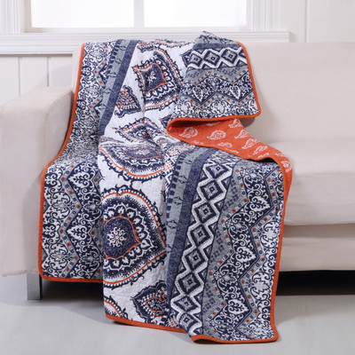 Medina saffron Throw Blanket