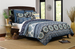 Medina Quilt Set Indigo - Full/Queen