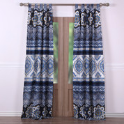 Medina Indigo tab top curtain pair from Greenland