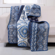 Medina indigo Throw Blanket