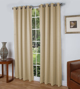 Spanish Steps Blackout Grommet Top Curtain Panels - Parchment