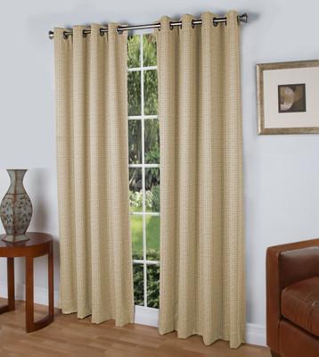 Spanish Steps Blackout Grommet Top Curtain Panels - Parchment