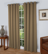 Spanish Steps Blackout Grommet Top Curtain Panels - Taupe