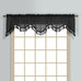 Monte Carlo Sheer fringed scalloped valance - Black (2 shown in picture)