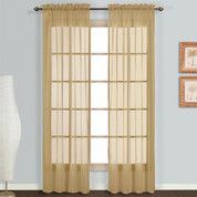 Monte Carlo bronze sheer rod pocket curtain pair