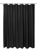 Waffle Weave Extra Long Cotton Shower Curtain - Black